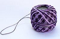 """Нитки для вязания """"Ирис"""", бело-фиолетовые"""