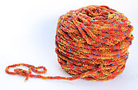 Пряжа пенка, оранжевая