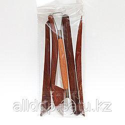 Набор коричневых стеков скульптурных с петлей, 5 шт.