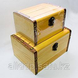 """Заготовка для декора """"Шкатулка-копилка"""", деревянная, 2в1"""