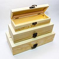 """Заготовка для декора """"Шкатулка-для мелочей"""", деревянная, 3в1"""