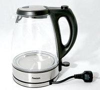5902 FISSMAN Чайник электрический APPETITE черный 1,7 л с прозрачным корпусом (нерж. сталь)