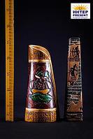Ваза настольная в ассортименте, ручная роспись, h- 27см, полиустоун