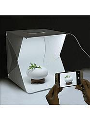 Фотобокс для предметной фотосьемки большой 40см, 4 цвета ФОНА, лайтбокс, с регулируемой подсветкой