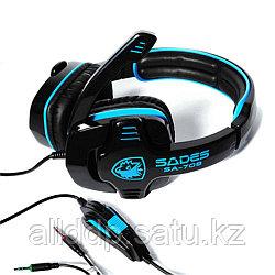 "Наушники ""Headphones+ microphone SADES SA708 Gaming Series,Ø 40mm,32Ω ± 15℅,111± 3 dB,20-20000Hz"""
