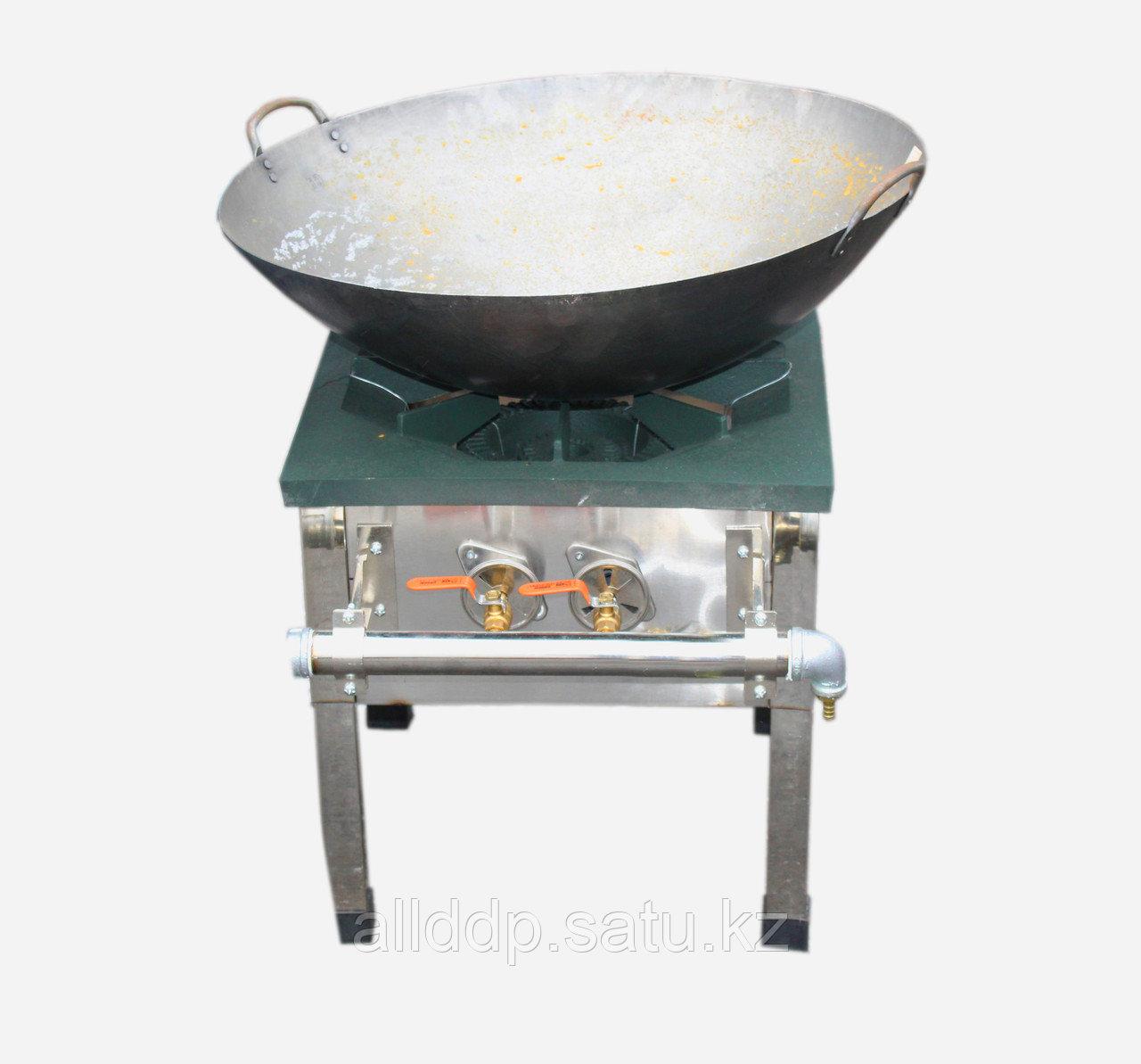 Газовая горелка для казана и вок, на ножках, два круга пламени D 45 см
