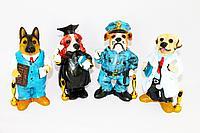 """Подставка для ручки """"Собака"""", в ассортименте, h-19см, полистоун"""