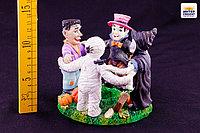 """Подсвечник """"Хэллоуин"""", h-12см, керамика"""