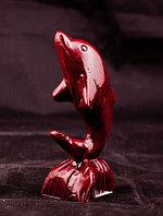 Дельфин на подставке, h-10см, полиустон