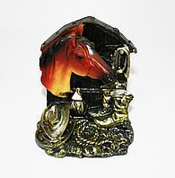 Лошадь на подставке, h-13см, керамика