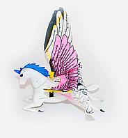 Лошадка музыкальная, светяшаяся, летает на леске, пластик