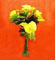 Куст с декоративными с цветами, h-0,80см, пластик