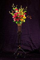 """Цветы искусственные """"Астры"""", букет, цвет mix, h-90см, пластик/текстиль"""