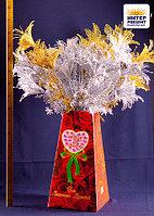 """Цветы искусственные """"Лилия"""", ветка в блестках, h-67см, пластик"""