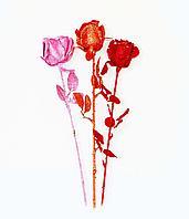 """Цветы искусственные """"Роза в блестках"""", h-55см, пластик"""