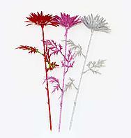 """Цветы искусственные """"Хризантема в блестках"""", h-70см, пластик"""