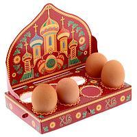 "Пасхальная подставка на 8 яиц ""Пасха красная"", 13,7*8,1см, картон"