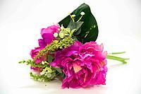 """Искусственные цветы """"Пионы"""", букет, h-25см, пластик/текстиль"""