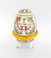 Шкатулка - яйцо, пасхальное, h-7,5см, металл