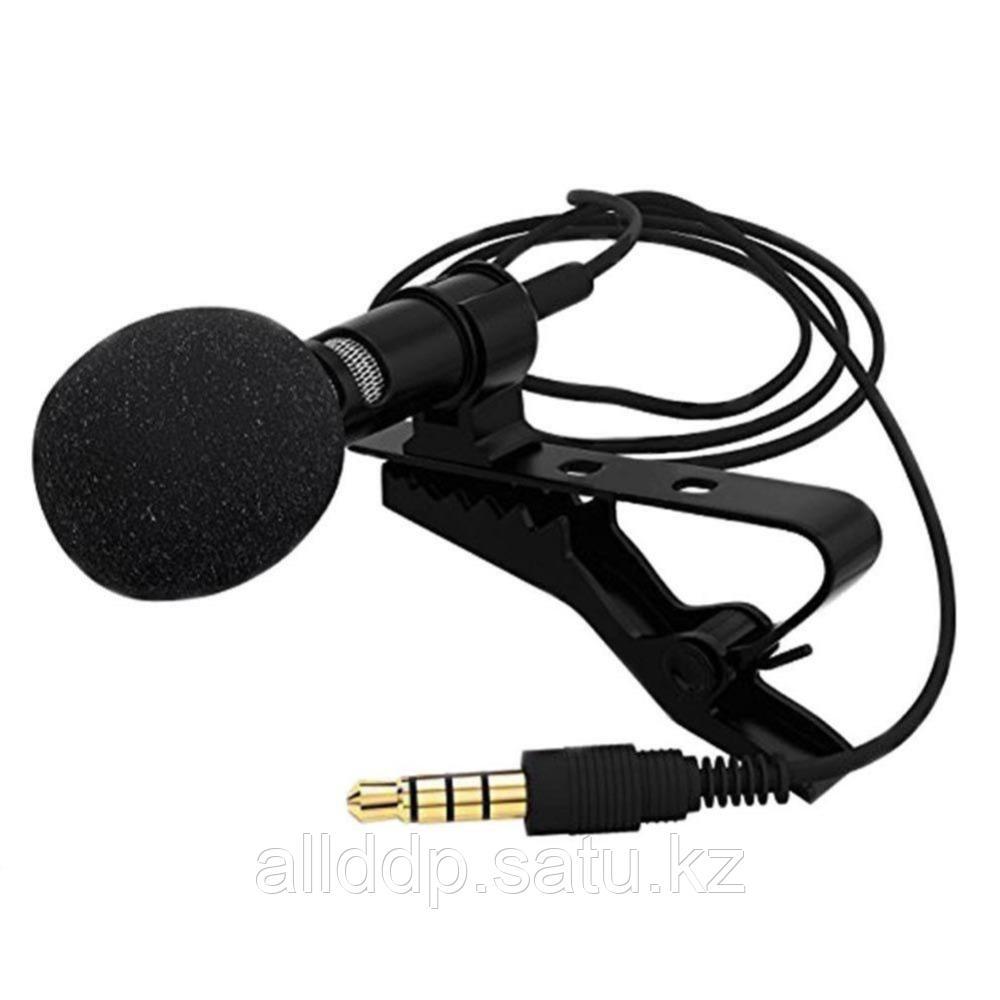 Петличный микрофон 3.5 мм jack черный
