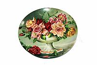 "Панно-тарелка ""Цветы"",d-20см, керамика"