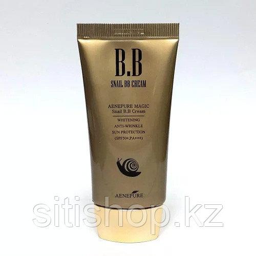 Aenepure Snail BB Cream Spf50 PA Whitening Anti-wrinkle Sun Protection 50ml - Омолаживающий ББ крем