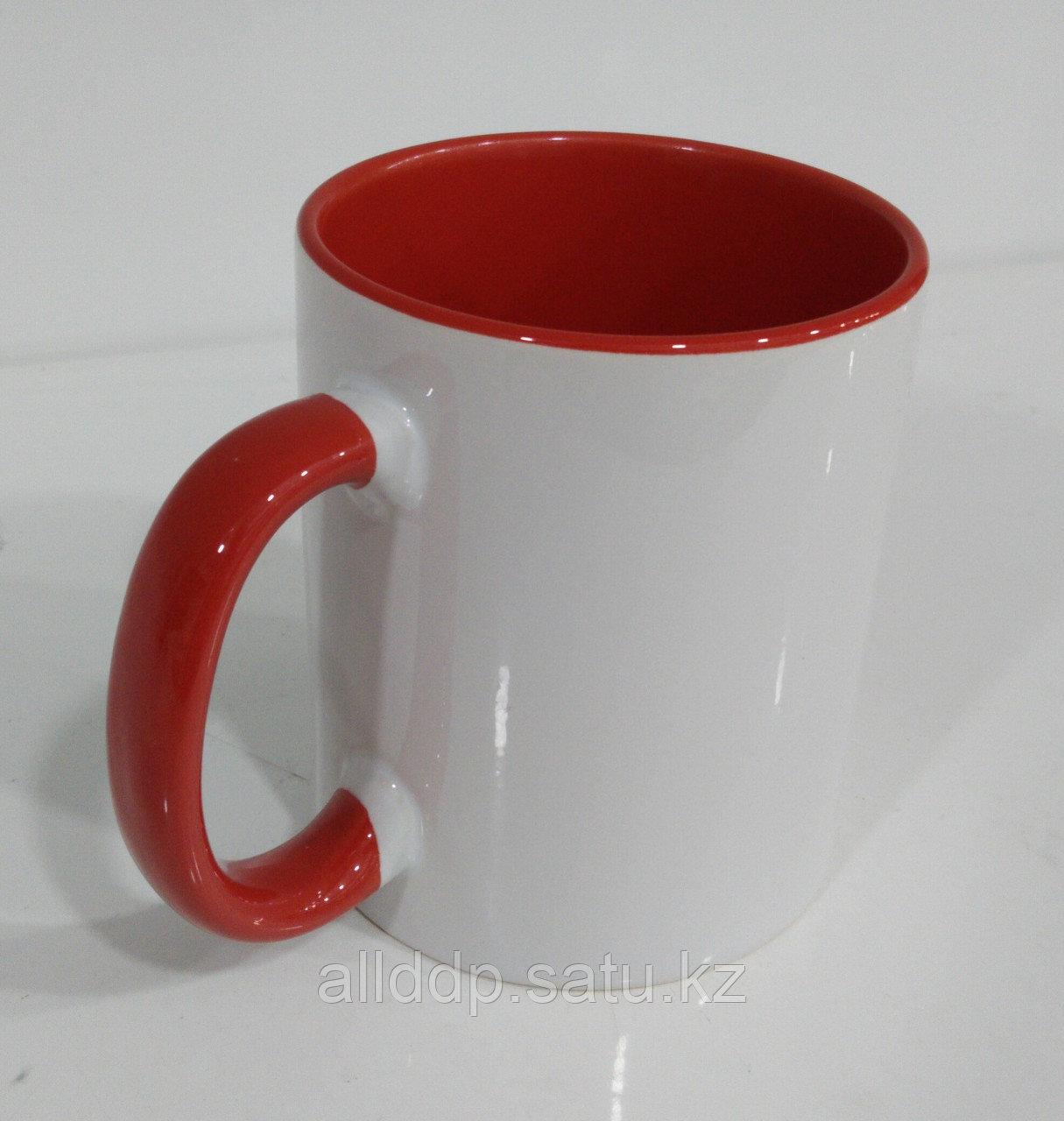 Кружка под сублимацию, бело-красный