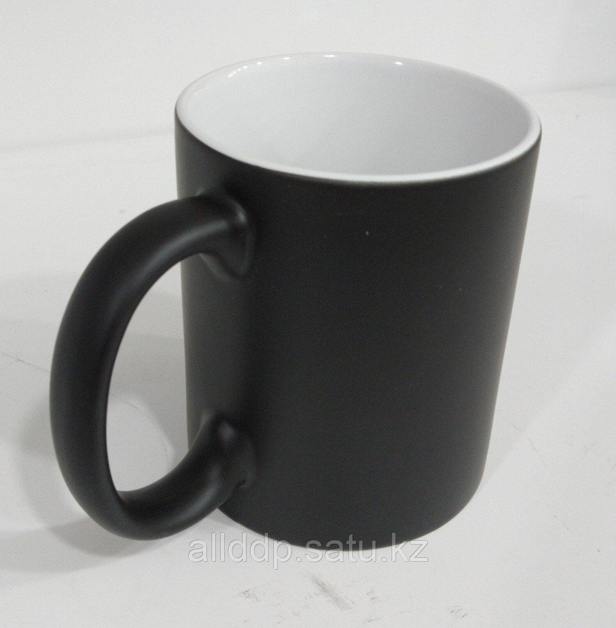 Кружка хамелеон (меняющая цвет) под сублимацию, черный матовый
