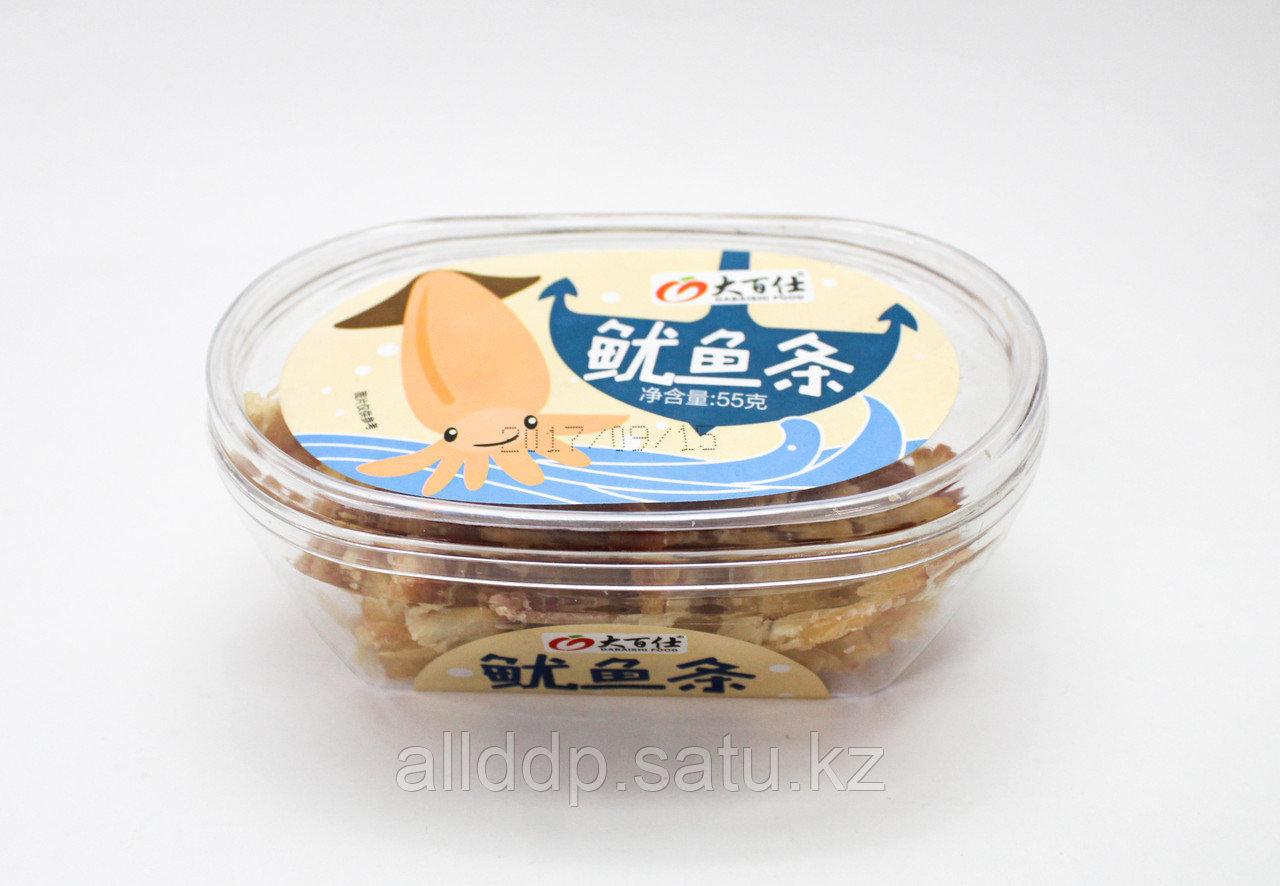 Кальмары сушеные, кисло-сладкие, 55 г