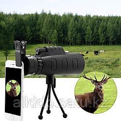 Монокуляр Baigish 35x50 с клипсой для смартфона и треногой
