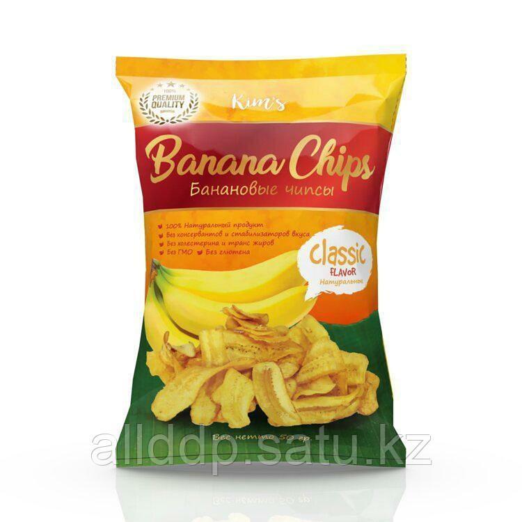 """Банановые чипсы """"Classic"""", 50 гр"""