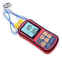 Цифровой 2-х канальный термометр с диапазоном измерения -200°C ~ +1372°C Benetech GM1312