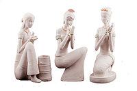 """Статуетка """"Девушка с голубем"""", h-22см, керамика"""