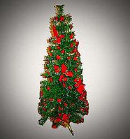 Ель 1,5 м светящаяся с мелкими красными цветами Т272/150
