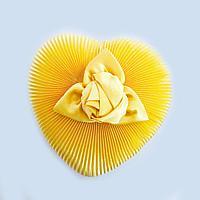Шкатулка гофрированная с цветком, 19*17*8см, картон/ткань