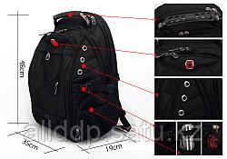 "Notebook Bag-Backpack,Textile,Black,15.6"",SWISS GEAR® Multifunction /Сумка для ноутбука-Рюкзак,матерчатая/ M"