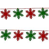 Растяжка рождественская, в ассортименте, 8шт в уп, h-16см, L-2м, фетр