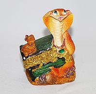 """Копилка """"Змея на сундуке"""", h-6см, полиустон"""