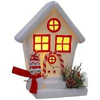 Рождественский дом, светящийся, h-50cм, сэвелен