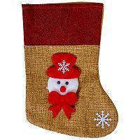 """Подвеска """"Рождественский носок"""", h-20см, текстиль"""