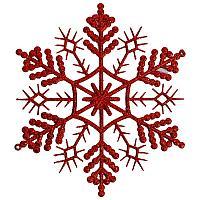 "Подвеска ""Снежинка с блестками"", h-28см, цвет микс, пластик"