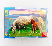 """Пазлы """"Лошади"""", 120 элементов, картон"""