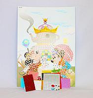 Набор для творчества - мозаика по номерам, 35*23см, картон/кожзам
