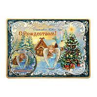 """Магнит на открытке """"Счастливого Нового года"""" елка, 14,8 х 10,5 см ,пластик"""