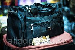 """Дорожная сумка """"Happypeople"""" среднего размера, 42х20х26см, (черная)"""