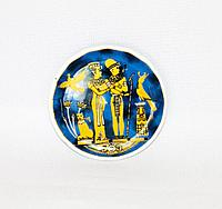Магнит - тарелочка разные страны в ассортименте, d-6см, керамика