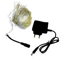 Электрогирлянда из проволоки, L-10м, цвет синий, зеленный, белый, желтый, пластик