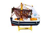 Рыболовный корабль, h-16см, дерево