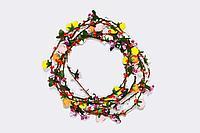 Ободок с цветами, пластик