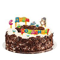 """Набор для украшения торта """"С Днем рождения!"""", картон, в ассортименте"""